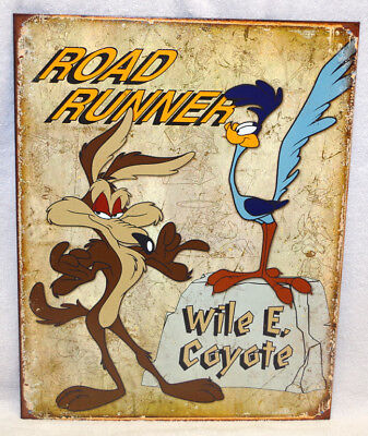 Road Runner And Wile E. Coyote - Metal Sign, New!