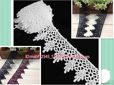 FP141 1Yard Lace Trim Ribbon For Wedding Bridal Dress Embroidered Sewing Crafts