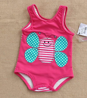 Infant Baby Girls Swimwear Bee Animal One Piece Swimsuit 6-12M 1-2T