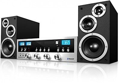 Stereo System Retro Bluetooth Classic CD Player FM Radio Aux Wireless Music Home