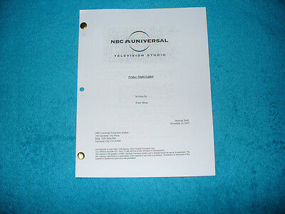 Friday Night Lights Pilot Script - Kyle Chandler - Connie Britton Taylor Kitsch