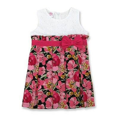 3c279721444 NWT Laura Ashley Baby Girl Clothes Printed Foral Multicolor Dress Size 18 M
