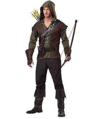 Adult Robin Hood Medieval Archer Hunter Warrior Thieve Peter Pan Costume Cosplay