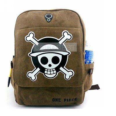 One Piece Student sailcloth Backpack Schoolbag Travelling bag Anime Bag