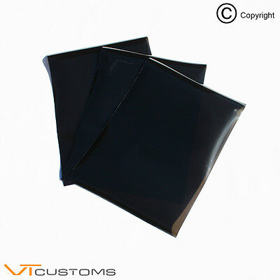 3 x A5 sheets - Dark Smoke Headlight Film for Fog Lights Tint Car Vinyl Wrap