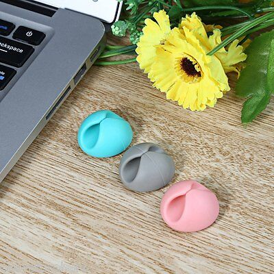 Smart Cable Clips 6pcs Wire Cord Drop Compact Ties Organizer Line Fixer Holder