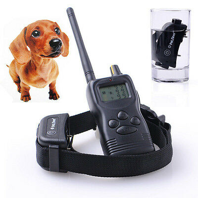 1000M Waterproof &Rechargeable Beep/Shock Dog Training Collar For 1/2/3 Dogs