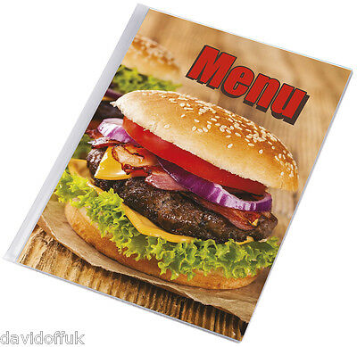 Menu Holder A4 Size Restaurant Pub Hotel Cattering Coffee Bar - Burger