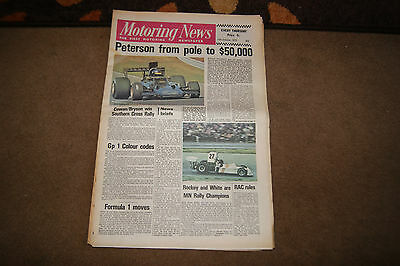 Motoring News 11 October 1973 Watkins Glen US GP Francois Cevert Obituary