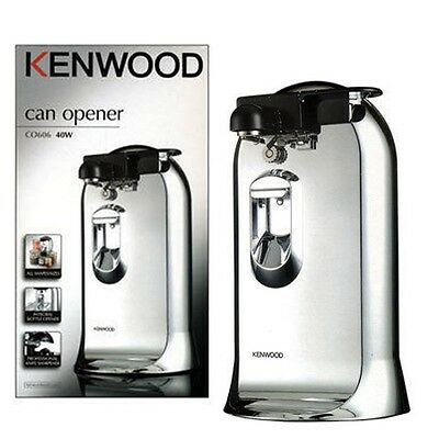 Kenwood CO606 Chrome Electric Can Opener with Knife Sharpener