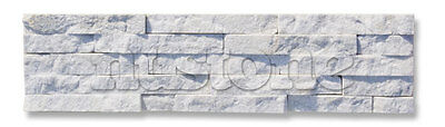 White Quartzite Split Face Mosaic Sample 150x150 Rock Panels - 3D Wall Cladding