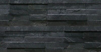 Black Slate Split Face Mosaic Sample 150x150 Rock Panels - 3D Wall Cladding Tile