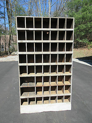 """LARGE antique 20th century HARDWARE store cabinet  ~ 83"""" x 47"""" x 10.25"""" NY state"""