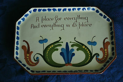 Arts & Crafts Longpark Pottery Tray - Devon/Torquay Wear      #2001