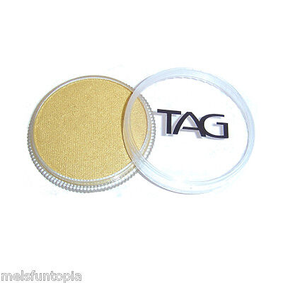 TAG Body Art 32g Pot Pearl Gold Professional Face and Body Paint - Metallic