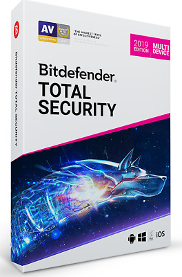 Bitdefender TOTAL SECURITY 2017, 5 Multi-Devices 1 Year LATEST RETAIL DVD CASE