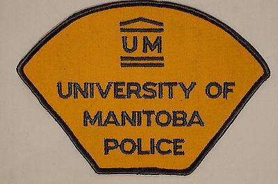 Canadian University Of Manitoba Police Patch