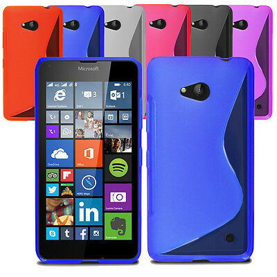 Slim Soft Wave Gel Case Soft Phone Cover For Microsoft Lumia 640 LTE & Screen
