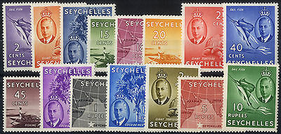 Seychelles - SG 158-172 - 1952 - Definitive Set of 15 - Mounted Mint
