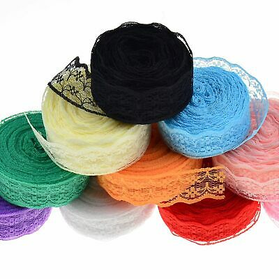 Wholesale! 2cm10 Yards Embroidered Net Lace Trim Ribbon Multicolour Choice