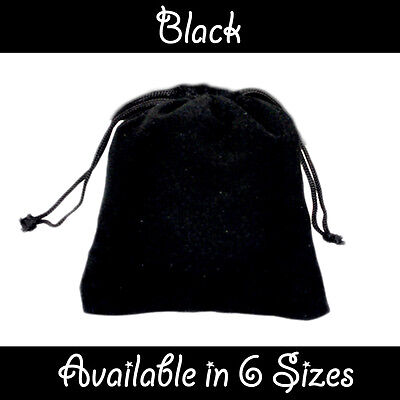 Black Velvet Gift Pouches Wedding Favour Bags Jewellery Pouch In 6 Sizes