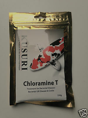 Kusuri Chloramine T 250G Bacterial and Parasitic Treatment for Koi Ponds