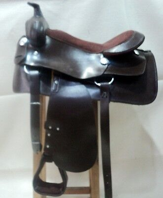 western tack trail rodeo cowboy pleasure roping leather western saddle