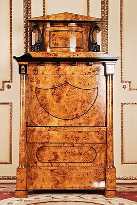 Aristocratic Secretaire Biedermeier Style Handmade in Germany  L-Sam-152