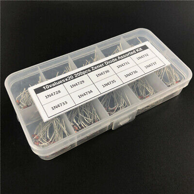 10value x20Pcs 1W ZENER DIODE assorted kit box 3.3V~7.5V 1N4728~1N4737 DO-41 DIP