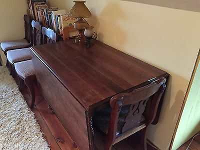 Dining Room Table and Chairs (Antique Cherry Wood)