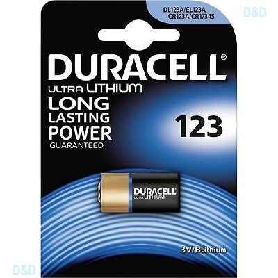 10 Pile  Batterie Duracell 123 Cr123A  Dl123 Cr17345 Litio 3 V Lithium Duralock