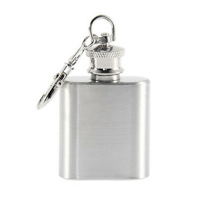 Portable 1oz Mini Stainless Steel Hip Flask Alcohol Flagon with Keychain YS