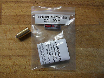 CARTUCCIA LASER COLLIMATORE CAL 9mm Laser Bore Sight BoreSighter  VIDEO DEMO