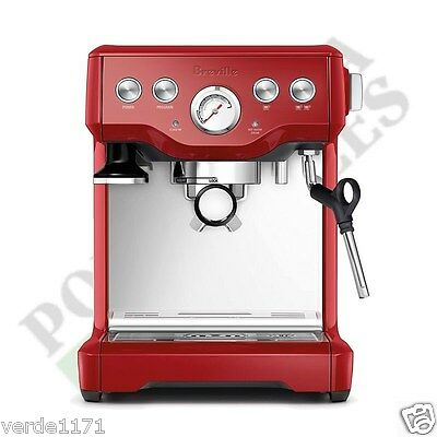 Breville Espresso Cappucino Infuser Cranberry Red Coffee Machine BES840CBXL