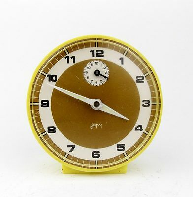 Vintage 1970s JAPY FRANCE Plastic Alarm clock Retro Old Desk table watch decor