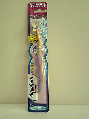 Aquafresh Phase1 Kids Toothbrush From 4 Months Extra Soft Bristles Lilac