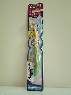 Aquafresh Phase1 Kids Toothbrush From 4 Months Extra Soft Bristles Green