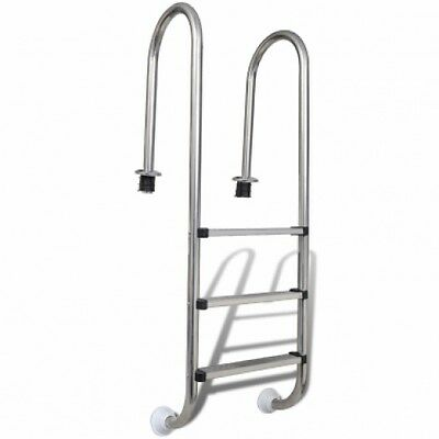 Stainless Steel In-Pool Ladder 3 Steps Easy Access Inflateble pool Garden NEW