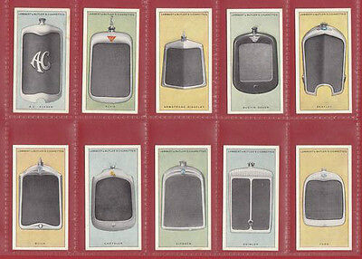 Cars  -  Lambert & Butler - Very Rare Set Of 25 Motor Car Radiators Cards - 1928