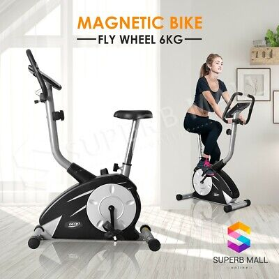 Upright Magnetic Exercise Bike Bicycle Trainer Fitness Home Gym Flywheel Indoor