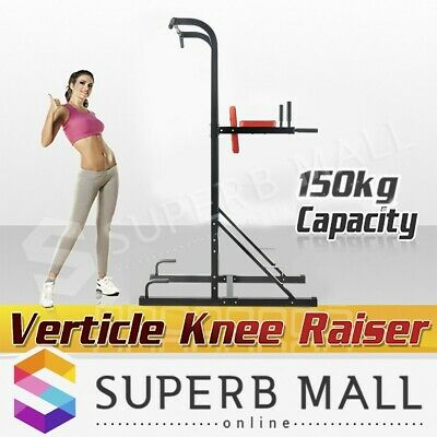 Knee Raise Power Tower Fitness Station Chin Up Push Pull Dip Exercise Home Gym