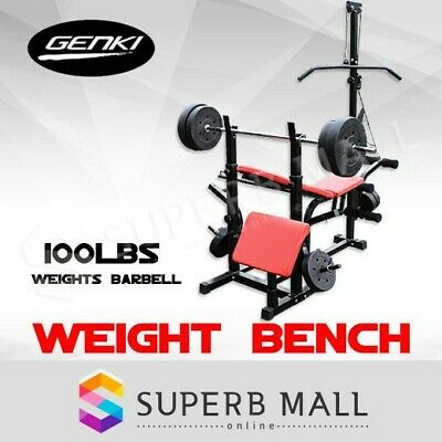 Multi Fitness Weight Bench Press Incline Barbell Squat Rack Home Gym Exercise