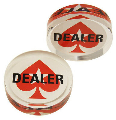 Acrylic Poker Dealer Button Double Sided  2.75 Inch Puck New Heavy 80 Grams