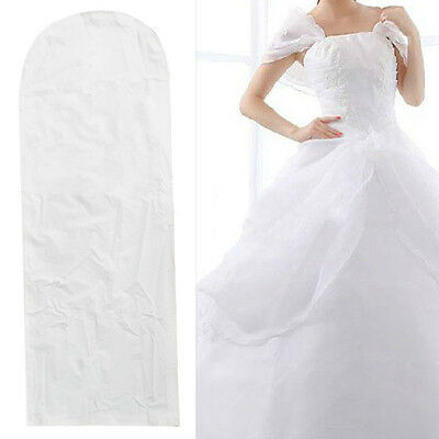 Breathable Wedding Bridal Prom Dress Garment Gown Cover Suit Protector Zip Bag