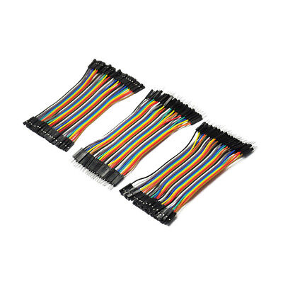 120pcs New 10cm Female Male Breadboard Dupont Jumper Cable Wires PCB for Arduino