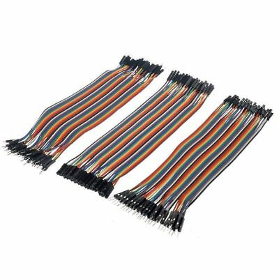 120pcs New 20cm Female Male Breadboard Dupont Jumper Cable Wires PCB for Arduino