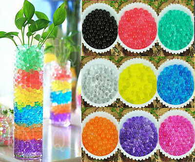 100g Crystal Soil Water Pearls Jelly Ball Vase Filler Wedding Party Decoration