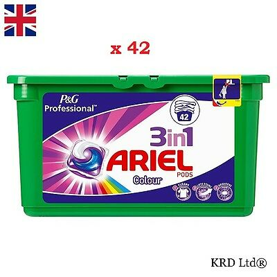 P&G Professional Ariel 3in1 Pods Colour Liquitabs 42 Washes Capsules 42 PACK