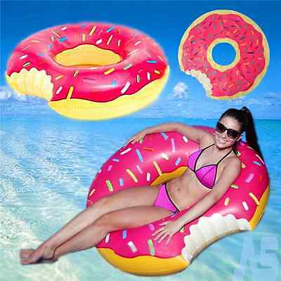 Fun Bite Shape Donut Inflatable Giant Swim Ring Swimming Pool Water Float Raft