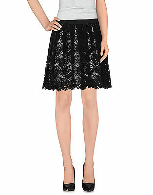 Liu Jo mini gonna pieghe pizzo nero  , skirt,jupe,юбка,Rock  tg  44